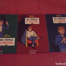 Cómics: GIL PUPILA EL INTEGRAL 1,2 Y 3 - 1956 A 1970 - PLANETA DEAGOSTINI TAPAS DURAS. Lote 195512158