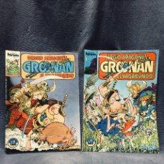 Cómics: NUMERO 6 Y 9 1985 SERGIO ARAGONES GROONAN EL VAGABUNDO COMICS FORUM . Lote 195551140