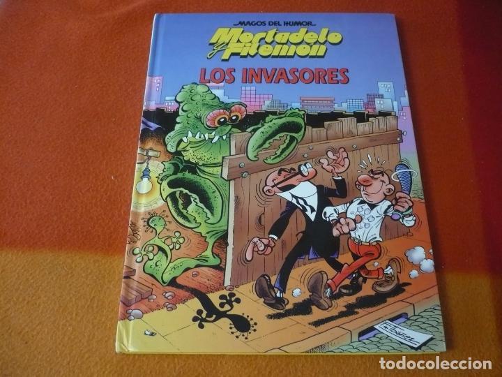 MORTADELO Y FILEMON LOS INVASORES ¡MUY BUEN ESTADO! TAPA DURA CIRCULO DE LECTORES MAGOS DEL HUMOR (Tebeos y Comics Pendientes de Clasificar)