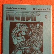 Cómics: NADIR N° 6 (SANTIAGO DE CHILE 1987). HISTÓRICO FANZINE ORIGINAL DE CIENCIA FICCIÓN Y FANTASÍA. COMIC. Lote 196938256
