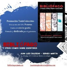 Cómics: BIBLIÓFAGO - AUSTER - BUKOWSKI - BRADBURY - SALINGER - TOP 10 FOROLIBRO 2019 - ENVÍO GRATIS. Lote 197184366