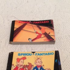 Cómics: 2 FLIPBOOKS ,SPIROU ET FANTASIO.ANIMACION. DEMONS & MERVEILLES, 1995,DUPOINS,TF1,CINE GROUPE.. Lote 198052101