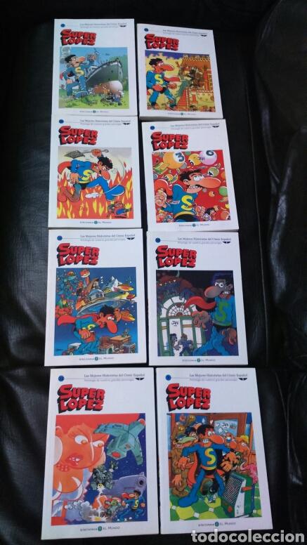 SUPER LÓPEZ BIBLIOTECA EL MUNDO LOTE DE 8 COMIC (Tebeos y Comics - Comics Pequeños Lotes de Conjunto)
