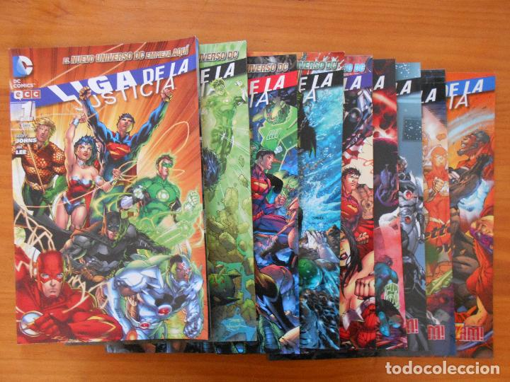 LIGA DE LA JUSTICIA - Nº 1 A 9 - GEOFF JOHNS - NUEVO UNIVERSO DC - ECC (BE) (Tebeos y Comics - Comics otras Editoriales Actuales)
