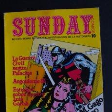 Cómics: SUNDAY Nº 10 , REVISTA SOBRE ESTUDIOS E INVESTIGACIÓN DE LA HISTORIETA. Lote 198468028