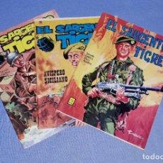 Cómics: 3 EJEMPLARES COMICS EL SARGENTO TIGRE EDIT. VILMAR ORIGINALES EN MUY BUEN ESTADO CON FOTOS DE FUTBOL. Lote 199161492