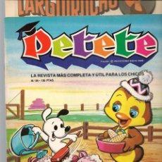 Cómics: REVISTA PETETE. Nº 84. CON SUPLEMENTO LARGUIRUCHO. (B/A57). Lote 199244033