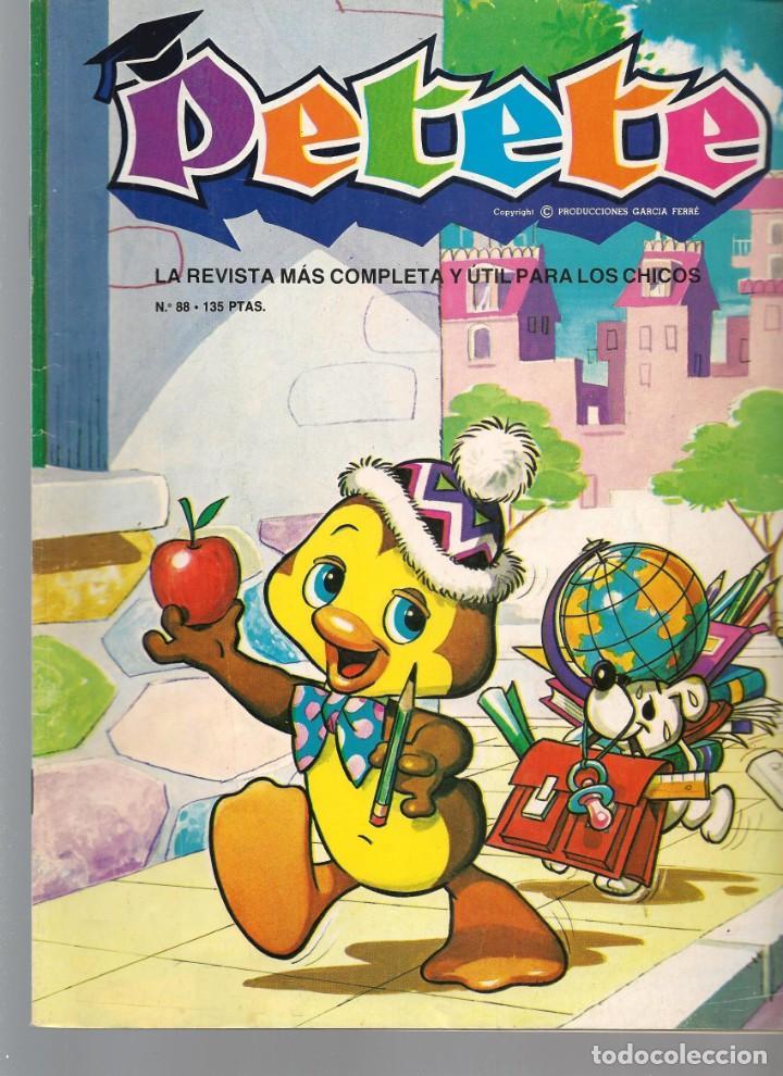 REVISTA PETETE. Nº 88. CON SUPLEMENTO LARGUIRUCHO. (B/A57) (Tebeos y Comics Pendientes de Clasificar)