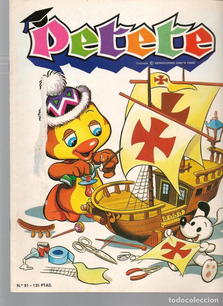 REVISTA PETETE. Nº 91. CON SUPLEMENTO PETETE. (B/A57) (Tebeos y Comics Pendientes de Clasificar)