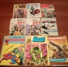 Cómics: LOTE DE 15 BOLSILIBROS, POCKET DE ASES, DOBLE JUEGO, ZZ7, HUELLA LOTE 48. Lote 199269942