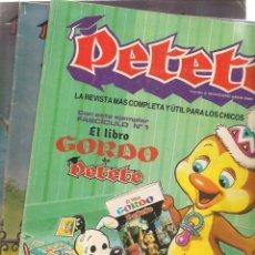 Cómics: REVISTA PETETE. LOTE 100 EJEMPLARES, ENTRE LOS NROS. 1 Y 116. VER DESGLOSE. (B/A57). Lote 199293348