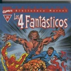 Cómics: BIBLIOTECA MARVEL EXCELSIOR : LOS 4 FANTASTICOS NUMERO 21. Lote 199737606