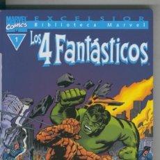 Cómics: BIBLIOTECA MARVEL EXCELSIOR : LOS 4 FANTASTICOS NUMERO 01: LOS 4 FANTASTICOS. Lote 199742290
