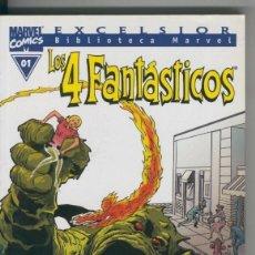 Cómics: BIBLIOTECA MARVEL EXCELSIOR : LOS 4 FANTASTICOS NUMERO 00-1. Lote 199743815