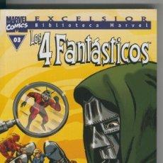 Cómics: BIBLIOTECA MARVEL EXCELSIOR : LOS 4 FANTASTICOS NUMERO 00-3. Lote 199743981