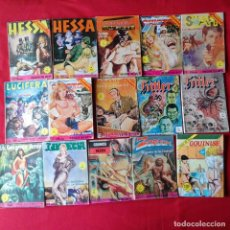 Cómics: 61 COMICS EROTICOS: TIBURON, CUERVO, EL PURO G, HARAKIRI, JUDIA VERDE. Lote 199755762