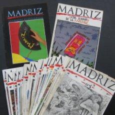 Cómics: REVISTA – MADRIZ – 1-33 ¡COMPLETA! + SEMANA DE LA JUVENTUZ 1985 (FLEXIDISCO) + CUADERNOS FOTOGRAFÍA. Lote 199781955