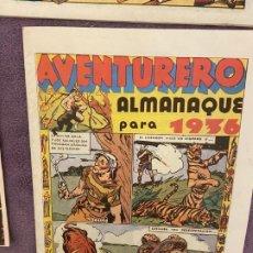 Cómics: FACSIMIL ALMANAQUE AVENTURERO 1936 SIN USO. Lote 199784495