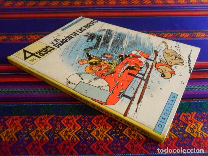 LOS 4 ASES Y EL DRAGÓN DE LAS NIEVES. OIKOS TAU 1ª EDICIÓN 1969. (Tebeos y Comics - Comics otras Editoriales Actuales)