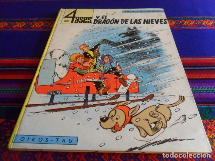 Cómics: LOS 4 ASES Y EL DRAGÓN DE LAS NIEVES. OIKOS TAU 1ª EDICIÓN 1969. - Foto 2 - 139824362