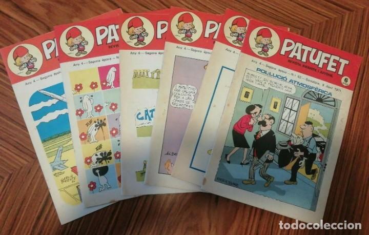 6 X PATUFET. REVISTA INFANTIL Y JUVENIL. GENER - ABRIL 1971 (Tebeos y Comics - Comics Pequeños Lotes de Conjunto)