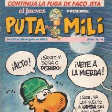 Cómics: COMIC PUTA MILI Nº 4 AÑO I EDICIONES EL JUEVES 1992. Lote 202253080