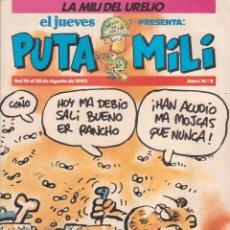 Cómics: COMIC PUTA MILI Nº 8 AÑO I EDICIONES EL JUEVES 1992. Lote 202253508