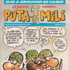 Cómics: COMIC PUTA MILI Nº 17 AÑO I EDICIONES EL JUEVES 1992. Lote 202253673