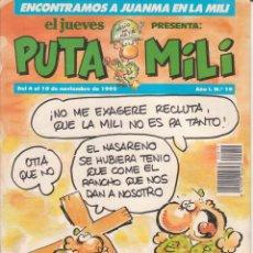 Cómics: COMIC PUTA MILI Nº 19 AÑO I EDICIONES EL JUEVES 1992. Lote 202253943