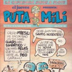 Cómics: COMIC PUTA MILI Nº 33 AÑO I EDICIONES EL JUEVES 1993. Lote 202254448
