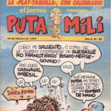 Cómics: COMIC PUTA MILI Nº 35 AÑO II EDICIONES EL JUEVES 1993. Lote 202254795
