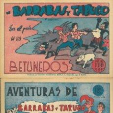 Cómics: DOS COMIC: BARRABÁS Y TARUGO. Lote 202770630