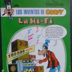 Cómics: LOS INVENTOS DE GOOFY LA HI-FI. Lote 202815268
