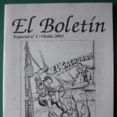 Comics: EL BOLETIN ESPECIAL Nº 1 EL CACHORRO DE G. IRANZO. Lote 203469812