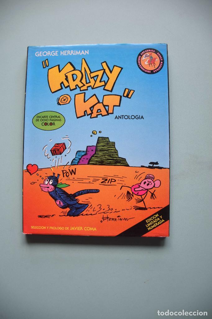 KRAZY KAT, ANTOLOGÍA, GEORGE HERRIMAN. EDICIONES ESEUVE 1990 (Tebeos y Comics Pendientes de Clasificar)