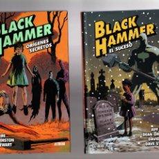 Cómics: BLACK HAMMER DE JEFF LEMIRE 1 2 3 4 + CALLES DE ESPIRAL - ASTIBERRI / TAPA DURA. Lote 204146567