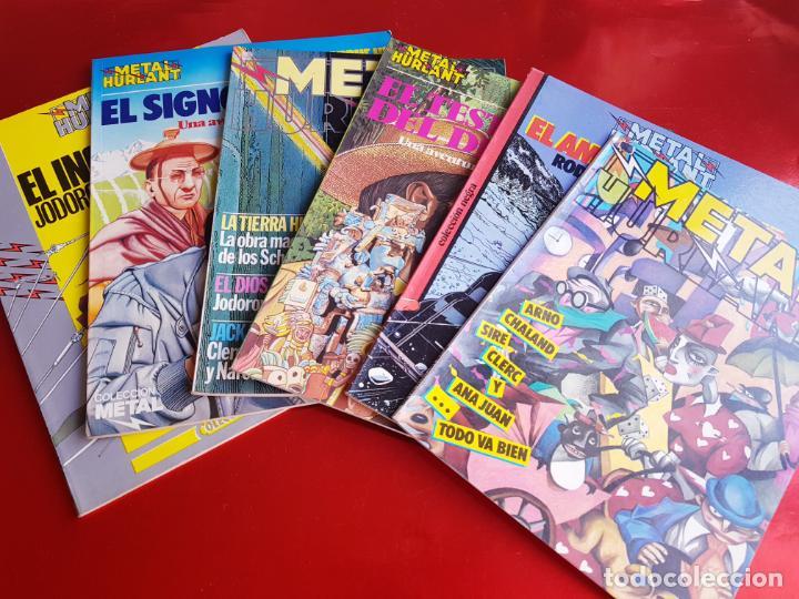 LOTE 6 COMICS-METAL HURLANT-BUEN ESTADO-ANTIGUAS-COLECCIONISTAS-RAROS+ESCASOS-VER FOTOS (Tebeos y Comics Pendientes de Clasificar)