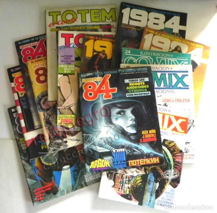 LOTAZO GRAN LOTE DE COMICS ZONA 84 TOTEM EL COMIX INTERNACIONAL 1984 CÓMIC PARA ADULTOS JOYA FOSTER (Tebeos y Comics - Comics Colecciones y Lotes Avanzados)