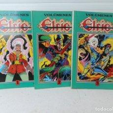 Cómics: 3 VOLUMENES ELRIC. VOLUMENES 1, 2 Y 3. CON LOS NUMEROS DEL 1 AL 13. EDICIONES B 1987.. Lote 205168166