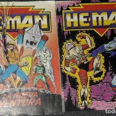 Cómics: 2 MINI COMICS MASTERS DEL UNIVERSO HE-MAN MOTU LA NUEVA AVENTURA EL VIAJE DE SKELETOR. Lote 205339116