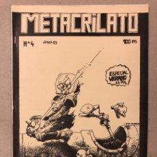 Cómics: METACRILATO N° 4 (BILBAO 1983). HISTÓRICO FANZINE ORIGINAL; ROBER GARAY, BIAFFRA, JESSE, TONI IGLESI. Lote 205791826
