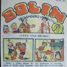 Cómics: BOLIN-SEMANARIO INFANTIL-NUM· 12-VER FOTOS-(70.781). Lote 206168055