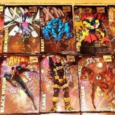 Cómics: TOPPS. 1996 MARVEL COMICS SUPER HEROES . 50 MAGNÉTICOS METÁLICOS. COMPLETA. Lote 206296293