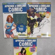 Cómics: APRENDE A DIBUJAR COMIC / NUMEROS 1 2 Y 3 / EDITORIAL DOLMEN. Lote 206425475