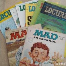 Cómics: LOTE LOCURAS (COMPLETA 1-6) - MAD EN ESPAÑOL (2 EJEMPLARES). Lote 207209826