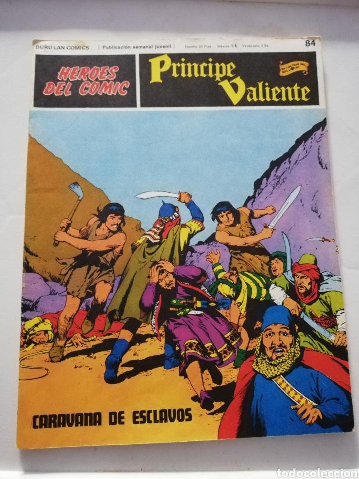 CARAVANA DE ESCLAVOS Nº 84 - HÉROES DEL CÓMIC PRÍNCIPE VALIENTE BURU LAN CÓMICS 1973 (Tebeos y Comics - Buru-Lan - Principe Valiente)