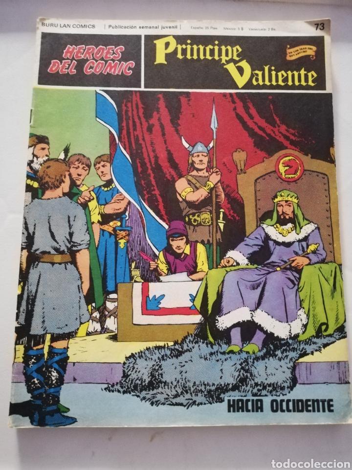 HACIA OCCIDENTE Nº 73 - HÉROES DEL CÓMIC PRÍNCIPE VALIENTE BURU LAN CÓMICS 1973 (Tebeos y Comics - Buru-Lan - Principe Valiente)
