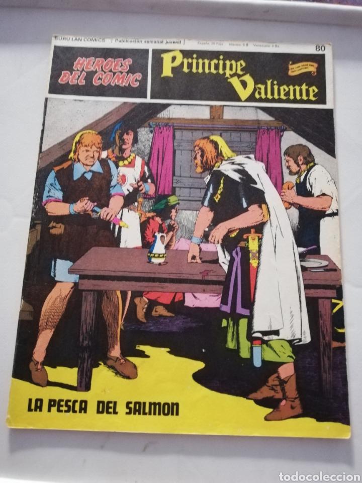 LA PESCA DEL SALMÓN Nº 80 - HÉROES DEL CÓMIC PRÍNCIPE VALIENTE BURU LAN CÓMICS 1973 (Tebeos y Comics - Buru-Lan - Principe Valiente)