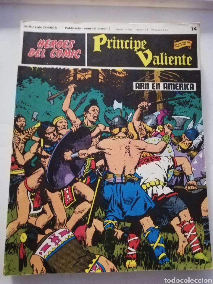 ARN EN AMÉRICA Nº 74 - HÉROES DEL CÓMIC PRÍNCIPE VALIENTE BURU LAN CÓMICS 1973 (Tebeos y Comics - Buru-Lan - Principe Valiente)