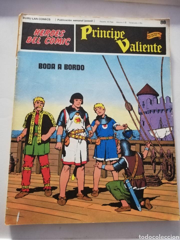 BODA A BORDO Nº 88 - HÉROES DEL CÓMIC PRÍNCIPE VALIENTE BURU LAN CÓMICS 1973 (Tebeos y Comics - Buru-Lan - Principe Valiente)